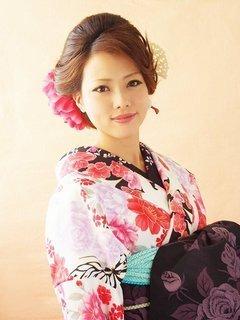 袴 髪型 ロング アレンジ